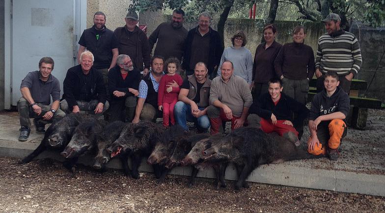 groupe de chasseurs